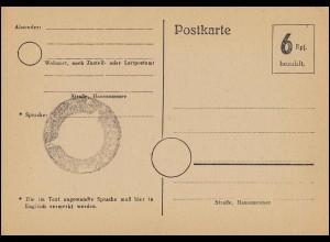 P 266 Sonderpostkarte WHW / Hochseefischer, ROHR (OA. STUTTGART) 13.1.1938