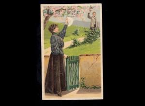 Gebühr-Bezahlt-Stempel Fensterbrief Wismar 2.2.46