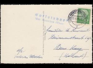 Weihnachten Christkindl Blanko-Postkarte SSt Geburt Christi 27.12.1957