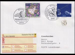 2024+2025 Weihnachten + Staatskapelle Dresden, MiF R-FDC zwei ESSt Bonn 12.12.89