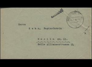 Gebühr-Bezahlt Brief Aschbach/Oberfranken 31.1.46 nach Berlin