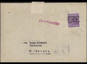 37I Band 6 Pf EF Drucksache Kreishandwerkschaft ohne Poststempel (28.8.1948)