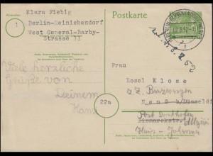 P 5b Berliner Bauten 10 Pf. BERLIN-REICNICKENDORF-WEST 3 - 2.8.1952 n. Neuss
