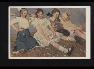 Künstler-AK Richter-Lößnitz: O' Kinderzeit, ungebraucht