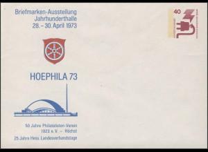 Privatumschlag Unfall 40: HOEPHILA Höchst 1973 **
