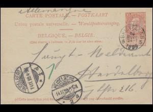Militärverwaltung Rumänien Nr. 1 etc. mit Bogenrand auf Brief BUKAREST 1918