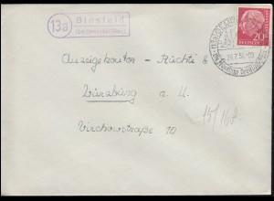 1. Ausgabe von Palau 1-4 Einweihung des Postdienstes - Zusammendruck FDC 10.3.83