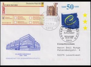 2049 Europarat, MiF R-FDC ESSt Bonn Sterne & 50 Jahre Europarat 4.5.1999