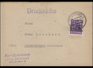 37I Band Drucksache GÜTERSLOH 6.8.1948 - Leimangebot nach der Währungsreform