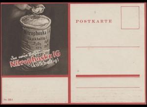 Werbe-Postkarte Nitrophoska IG A und B kalkhaltig, ungebraucht