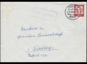 SBZ 214 Karl Marx 8 Pf. als MeF auf Brief KLINGENTHAL (SACHSEN) 4 - 19.10.1951