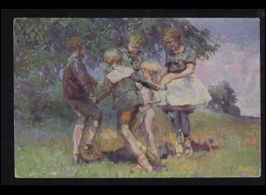 Künstler-AK C.W. Bergmüller: Kinderreigen, Verlag M.K.B., ungebraucht