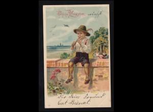 Ansichtskarte Bayern: Isartal - Bayerbrunn Conradshöhe, Schliersee 23.8.1910