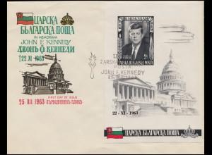 Bulgarien / Exilregierung: Schmuck-FDC Block zum Tode John F. Kennedy 22.11.1963