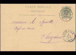 Niederländische Dienstpost Umzugsmeldung LANGWEER 25.12.1904 n. KROMMENIE 26.12.