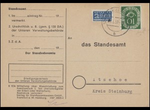 PP 17/8 Berliner Bauwerke 8 Pf Europa-Marken Ausstellung Bad Nauheim SSt 28.9.61