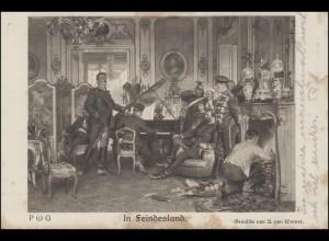 Feldpost AK In Feindesland Gemälde von Werner, K.K. I. ARMEECORPS 7.12.1914