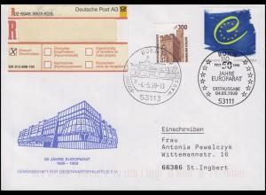 2049 Europarat, MiF R-FDC ESSt Bonn 50 Jahre Europarat & Sterne 4.5.1999