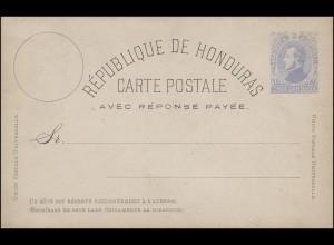 Honduras Antwort Postkarte 3 Centavos AVEC REPONSE PAYEE, ungebraucht **