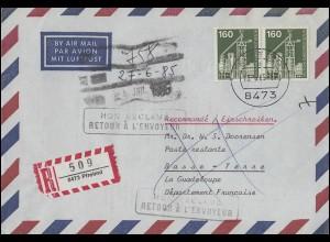 351y Luther hell/dunkel MeF Brief SSt HANNOVER MESSEGELÄNDE 30.4.67 nach Berlin