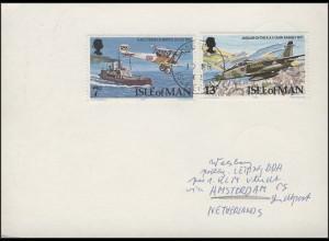 Isle of Man: Flugzeuge 1978, MiF auf Karte Douglas/isle of Man 1982