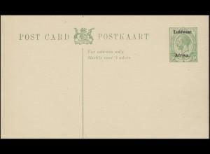 Südafrika Postkarte Postkaart 1/2 d Zuidwest Afrika verschnitten, ungebraucht **