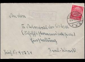 SSt BERLIN 29.9.1937 Staatstreffen Mussolini-Hitler auf Blanko-Postkarte P 255I