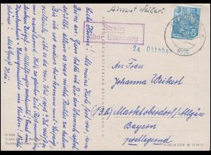 Poststelle Strelln über EILENBURG 6.10.1955 auf AK Tiroler Erker in Scharnitz