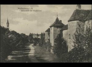 Ansichtskarte Weißenburg/Bayern: Teilansicht Stadtmauer, Weissenburg 24.10.25