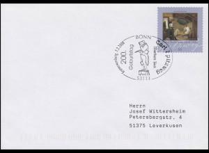 2648 Spitzweg, selbstklebend aus der Rolle, FDC Erstverwendungsstempel Bonn
