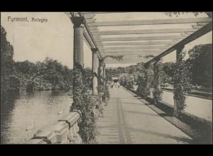 Ansichtskarte Pyrmont: Anlagen, Pyrmont 11.10.1910