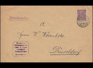 24 Dienstmarke EF Drucksache Reichsanstalt Landwirtschaft BERLIN-DAHLEM 27.10.21