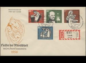 243-46 Wofa Kinderpflege 1956, Satz auf Schmuck-R-FDC