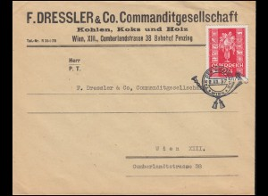 659 Glückwunsch-Marke 24 Groschen auf FDC ESSt WIEN Tag der Briefmarke 12.12.37