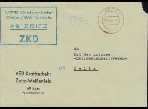 ZKD-Brief Kraftverkehr Zeitz-Weißenfels Brief ZEITZ 14.12.65 an Rat des Kreises