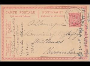 Belgien Zensur Überwachungsstelle 1 Aufdruck MeF auf Drucksache FARCIENNES 1916