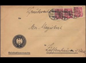 24 Dienstmarke als MeF auf Reichsdienstsache als Drucksache BERLIN 24.6.1921