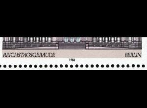 Block 20 Demokratie Gebäude 1986: markanter Doppeldruck schwarz, **