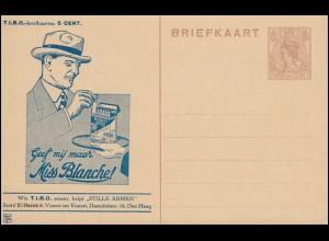Niederlande P 162 als Privatpostkarte T.I.B.O. Zigarettenwerbung, ungebraucht