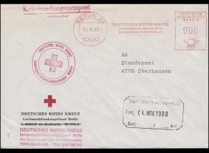 Kriegsgefangenenpost Absendefreistempel Deutsches Rotes Kreuz BERLIN 31.01.1980