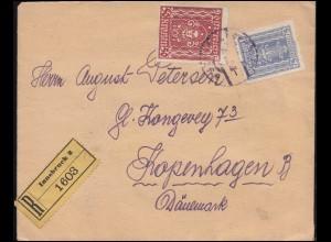 Österreich 40AI Frauenkopf 50 Kronen mit Zusatzfr. R-Brief INNSBRUCK 10.8.1922