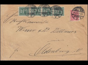 23+28 Dienstmarken-MiF auf Brief Amtsgericht CLOPPENBURG 14.9.21 nach Oldenburg