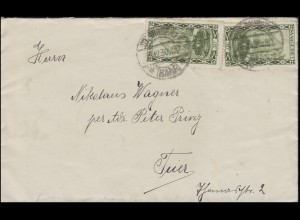 112+112III Landschaften 30 C. MeF mit PLF III auf Brief ST. INGBERT 26.12.1930