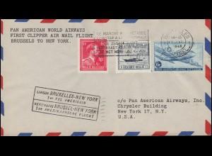 Erstflug New York - Brüssel per PAN American World Airways, BRÜSSEL 17.6.1946