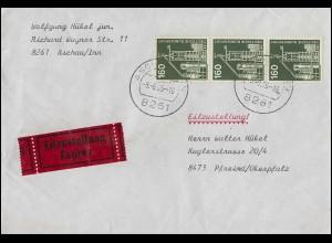 Infla-MiF Schnitter und Posthorn auf Postkarte HONNEF 30.1.1923 nach Chemnitz