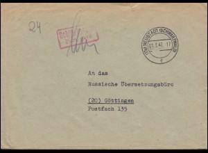 Gebühr-bezahlt-Stempel auf Brief NEUSTADT (SCHWARZWALD) 1.3.47 nach Göttingen