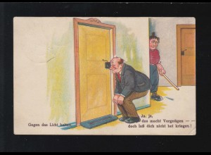 AK Karikatur Spanner Türschloss Ja, das macht Vergnügen, Scheibenberg 30.12.1927