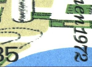 Bl.7DD Olympiastadion Doppeldruck schwarz (insbesondere rechte Blockseite) **