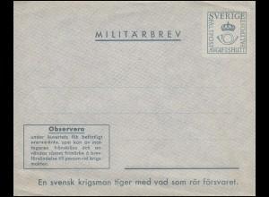 Schweden Miltärpost: Militärbrief-Umschlag MILITÄRBREV ab 1929, ungebraucht **