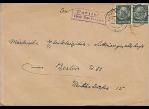SSt. Potsdam - Helft den Umsiedlern 11.11.47 auf Blanko-Postkarte P 952